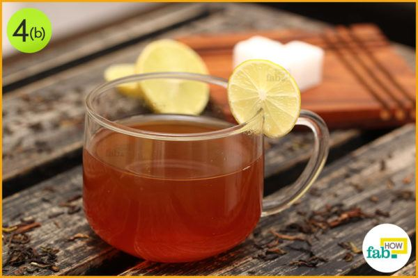 Enjoy simple lemon tea