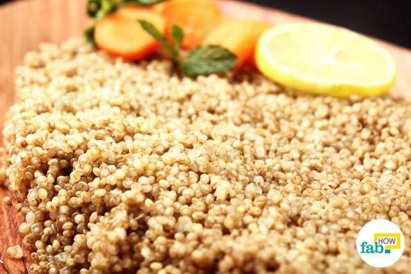 Serve quinoa