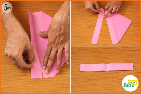 Tear the folded piece