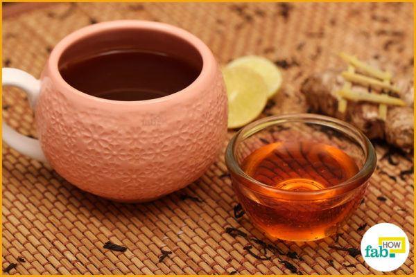 Enjoy ginger lemon tea