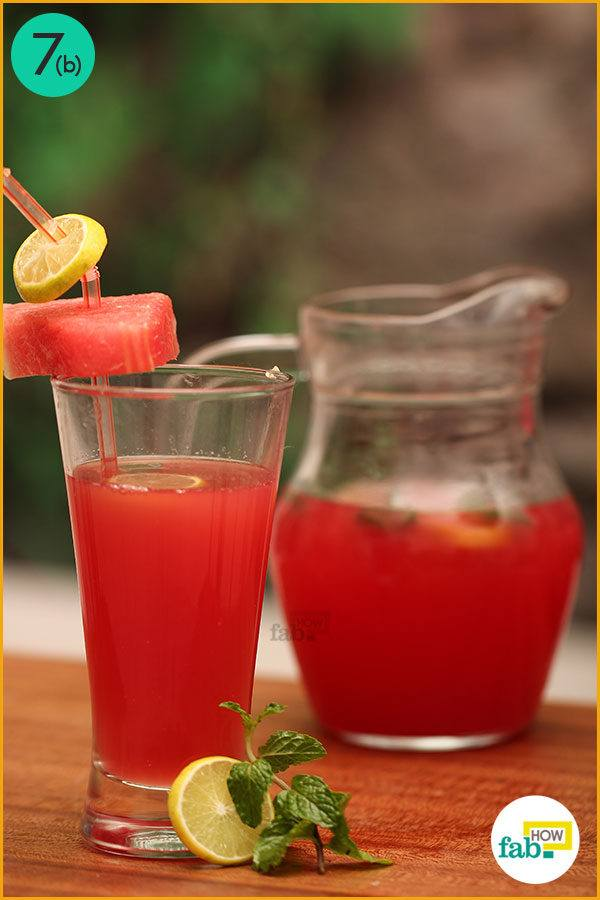 Serve watermelon lemonade