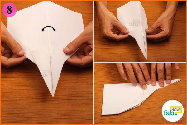 Fold the plane in half