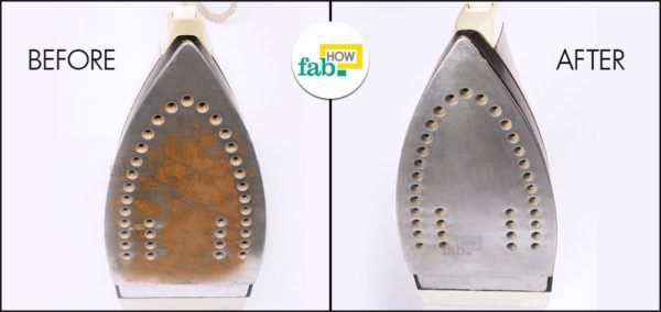 Clean iron before after