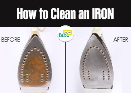 Clean an iron inside out