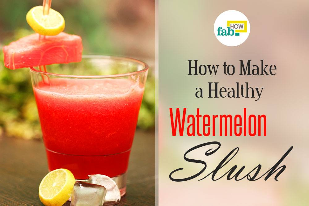 Make healthy watermelon slush
