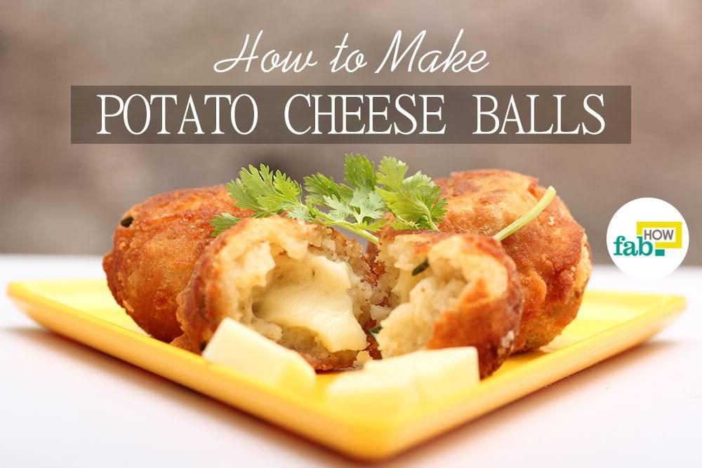 Make potato cheese balls