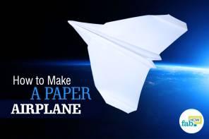 Make paper airplane that flies far