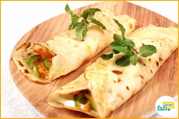 Serve eggless crepes