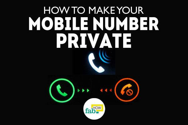 Make mobile number private