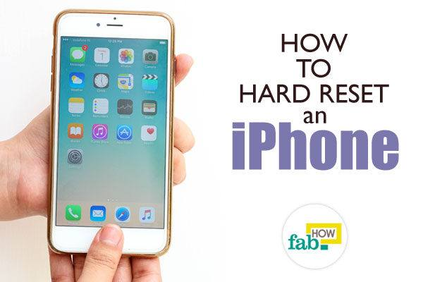 Hard reset iphone