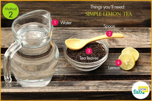 Simple lemon tea things need