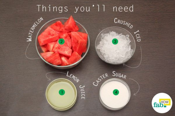 Watermelon slush things need