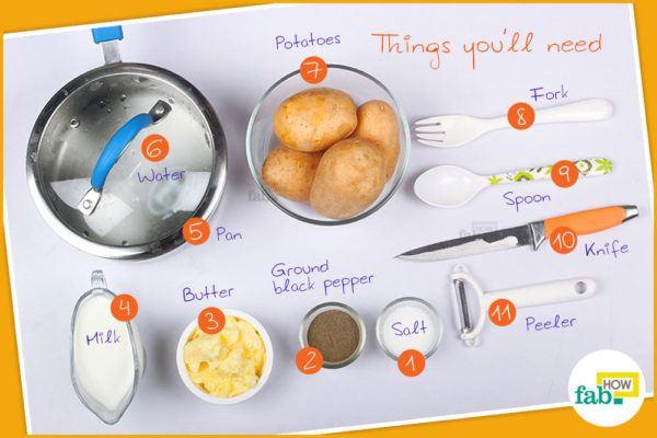 Mashed potatoes things need