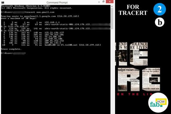 IP displayed after TRACERT