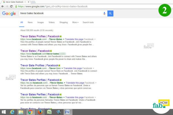 Google search after log out