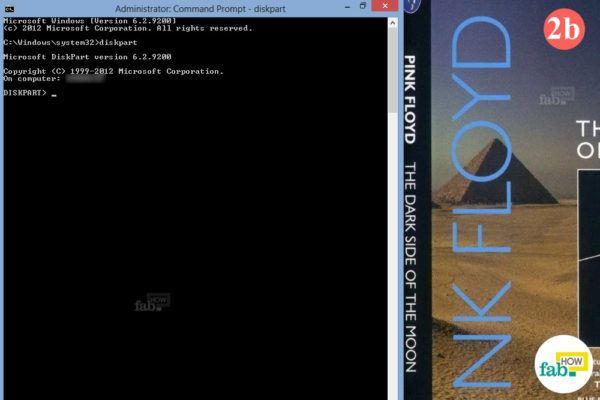 Diskpart open window