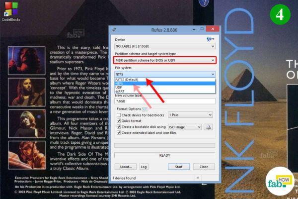 Change file system format