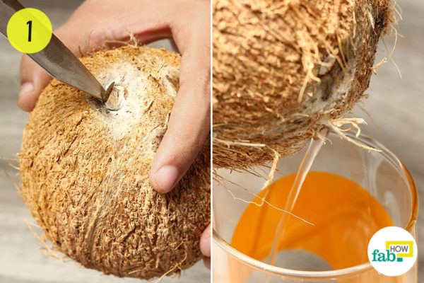 Step-1. Drain the coconut milk