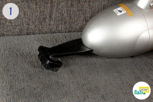Vacuum the sofa