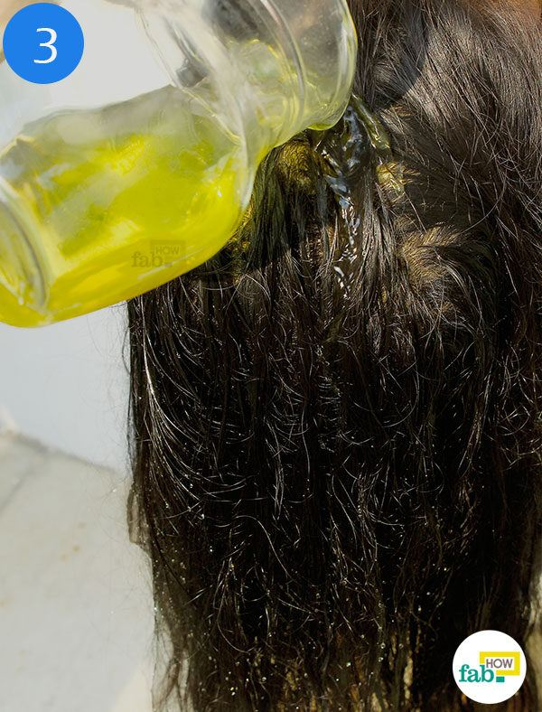 Wash hair with neem water