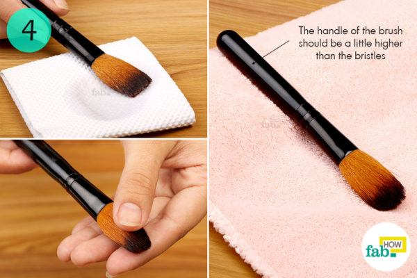Step-4.Dry your makeup brushes