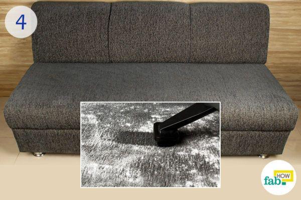 Vacuum the sofa again