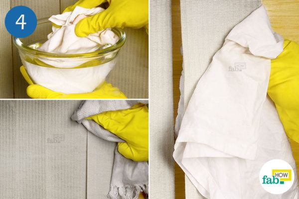Wipe the blinds with a damp cloth