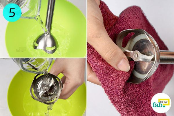 Rinse with plain water and proceed to dry