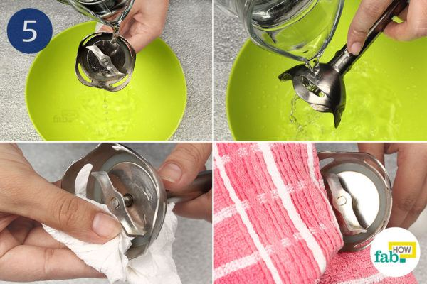 Rinse with water and dry thoroughly