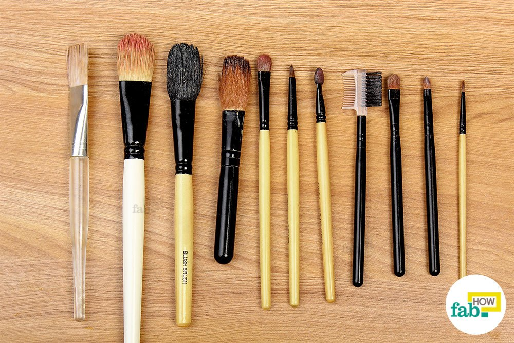 How often to wash makeup brushes