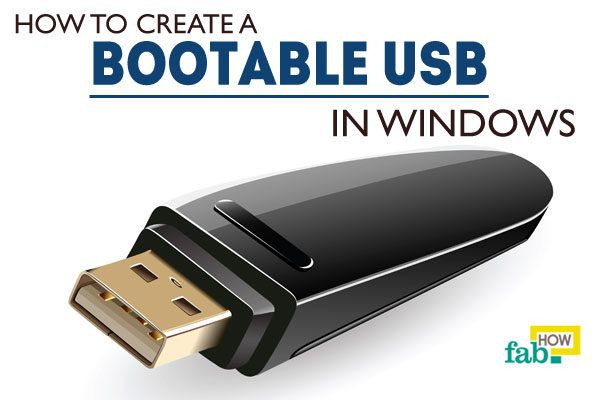 Create bootable usb in windows