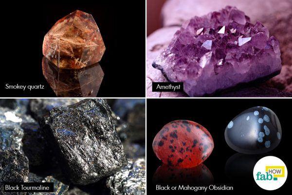 crystals negative energy