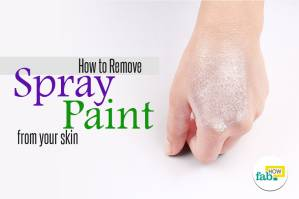 how to remove spray paint from your skin. Black Bedroom Furniture Sets. Home Design Ideas