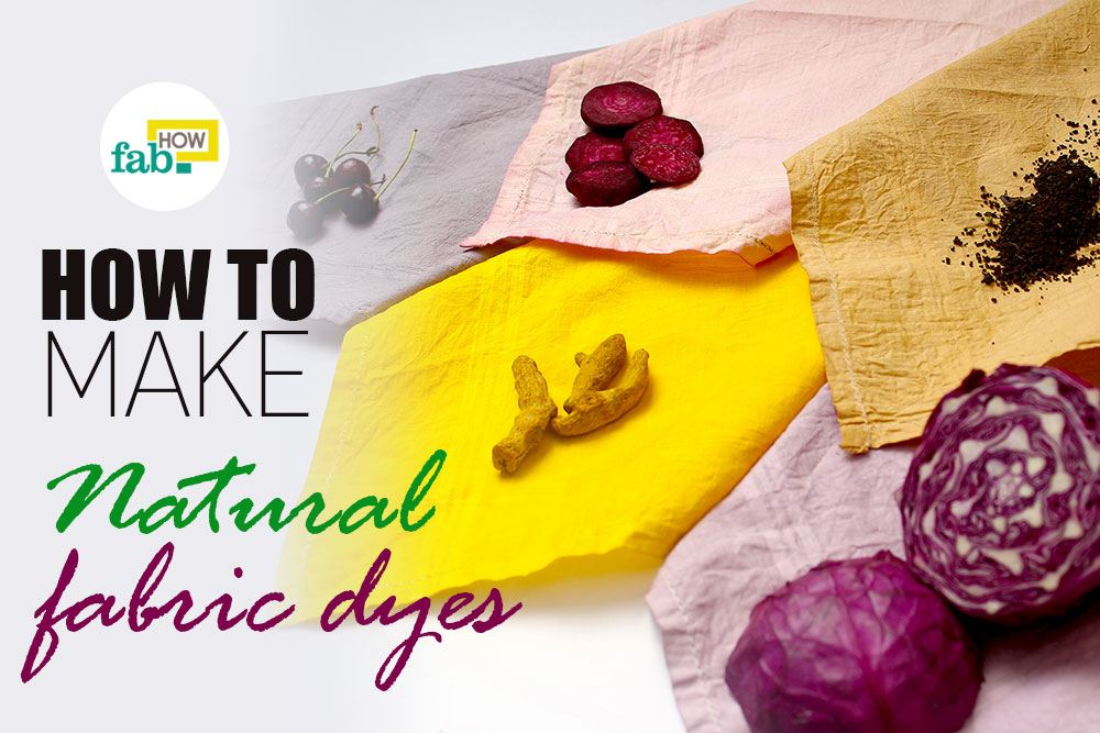 Make 5 different natural dyes fabric