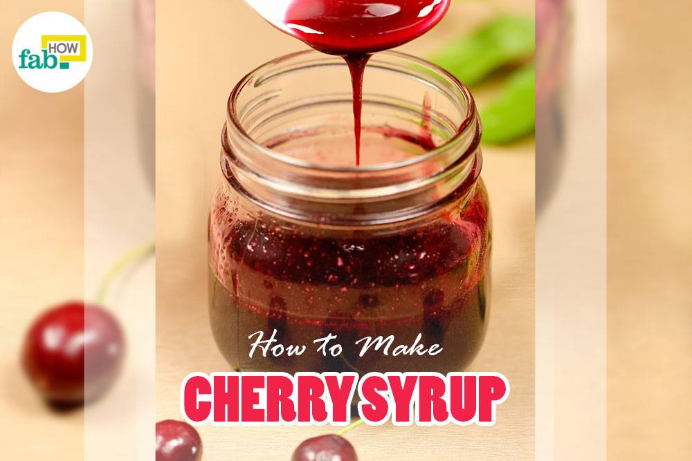 Cherry syrup without cherry pitter