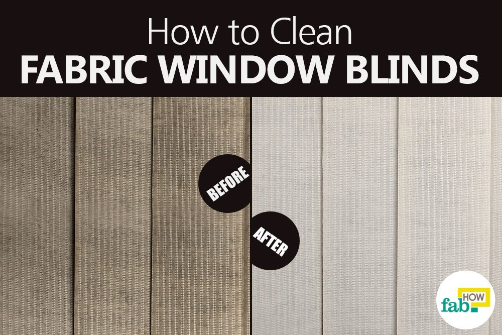 Clean fabric window blind easy way