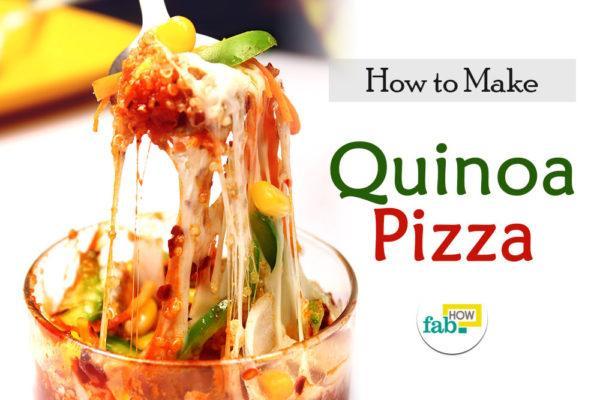 Make quinoa pizza bowl
