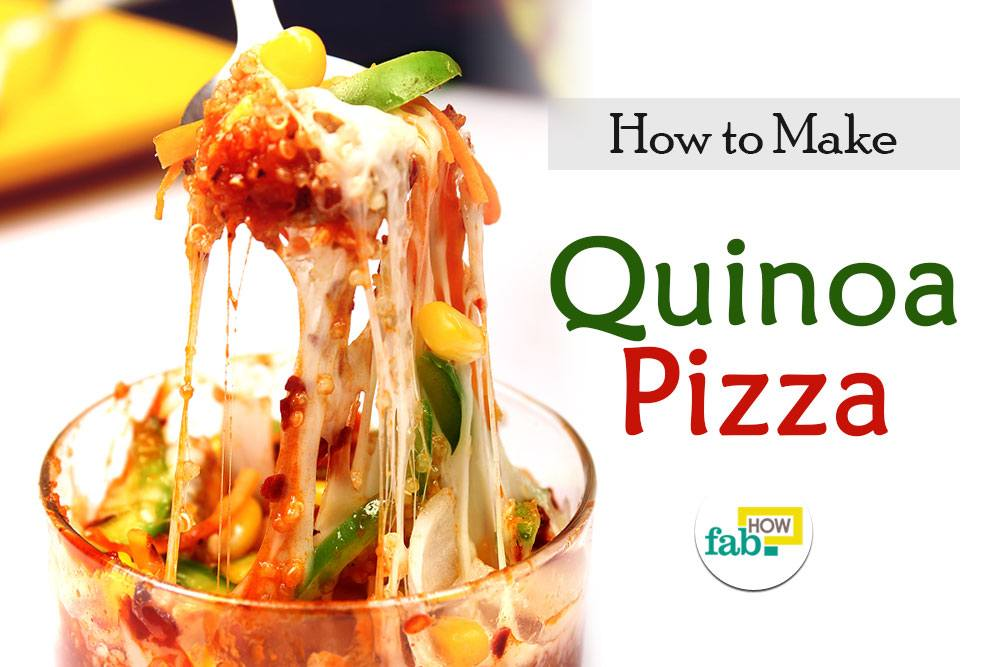 Make quinoa pizza bowl