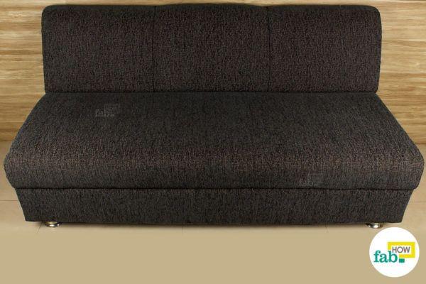 Cleaned fabric sofa
