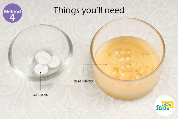 Remove dandruff aspirin shampoo things need