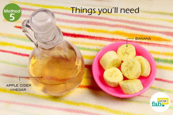 Remove dandruffbanana apple cide vinegar things need