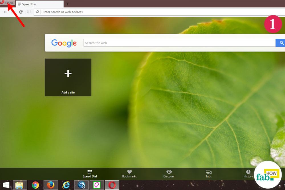 how to delete opera browser
