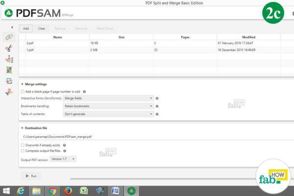 pdf files selected