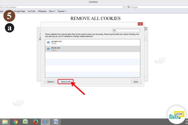 remove all cookies safari