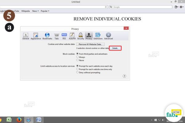 remove individual cookie safari