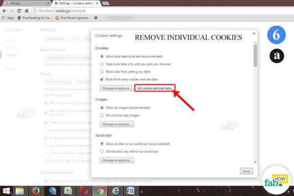 remove individual cookie