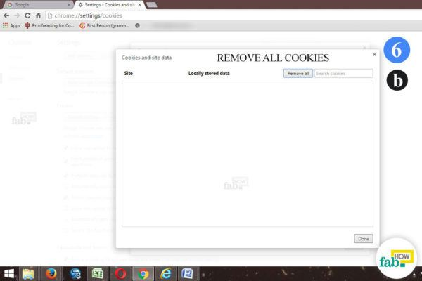 remove all cookie chrome