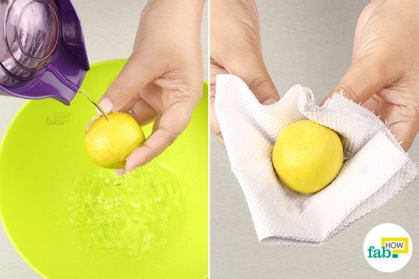 Wash and dry the lemon