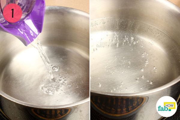 Boil water in a pan