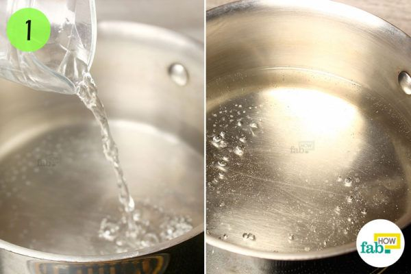 Bring the water to a boil